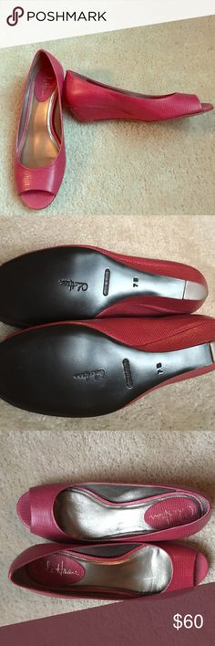 Cole Haan open-toe wedge Brand new! Never worn. From clean, pet-free, smoke-free home. Cole Haan Shoes Wedges