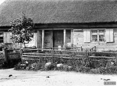 Nickelshagen, Hölzernes Bauernhaus mit Laube