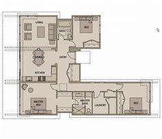 planos de casas en forma de u - Buscar con Google