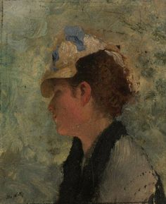 .:. Giuseppe De Nittis (1846-18884) Ritratto di signora napoletana (Portrait of a Neapolitan Woman)
