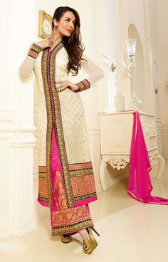 Trendy #Buttercream #Designer Salwar Set