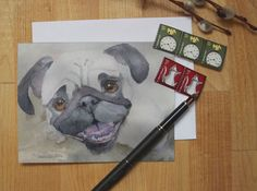 Hey, I found this really awesome Etsy listing at https://www.etsy.com/listing/268894321/5-blank-note-cards-pug-thank-you-cards