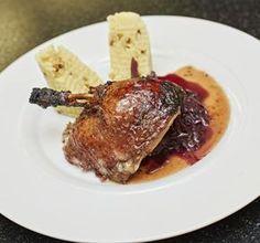 Recept Kachna na medu a víně sčerveným zelím Steak, Pork, Kale Stir Fry, Steaks, Pork Chops