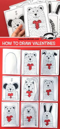 krokotak | How to draw Valentines