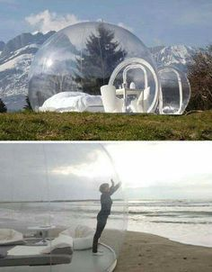 Snow Globe rooms. So cool!