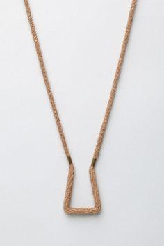 Totokaelo - Erin Considine - Encased Hand Forged Brass Necklace - Cutch Camel