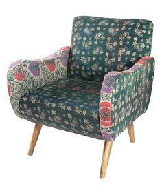 Patchwork Curved Arm Chair