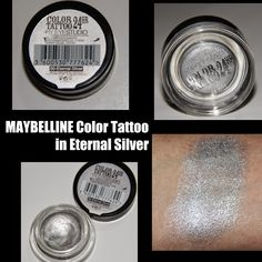 MichelaIsMyName: MAYBELLINE Color Tattoo in Eternal Silver REVIEW