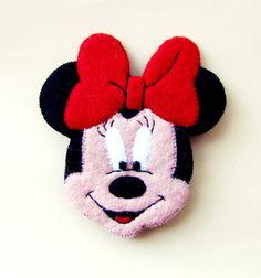 handmade felt brooch Minnie Mouse