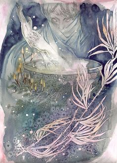Cauldron Witch / Magical / Fantasy Art Print by raintower on Etsy, $22.00