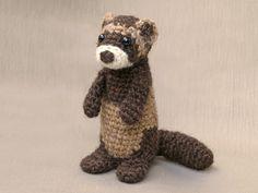 ferret crochet pattern, amigurumi