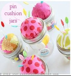 classic jar pin cushion sewing pattern