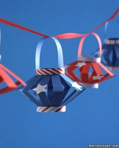 """See the """"Holiday Lanterns"""" in our Patriotic Red, White, and Blue Crafts and Party Decorations gallery"""