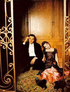 on set of Titanic (1997) Leonardo DiCaprio and Kate Winslet - jack and rose -- I've never seen this picture before! I love it!