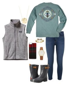 """Babysitting till 10:30 at church!!!"" by livimay ❤ liked on Polyvore featuring Paige Denim, Queen Bee, Chooka, Patagonia, Zero Gravity, Moon and Lola and Kate Spade"