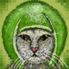 pixel art Melon cat meme cute cat fun kitten melon by pixelwiz piq