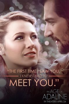 Adaline was ageless until she found something timeless. Discover a fairytale love story in The Age of Adaline, starring Blake Lively and Michiel Huisman – In theaters April 24th, 2015!