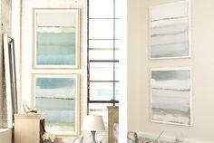Hallway art idea (ballard designs abstract knock off) Ikea Office Storage, Ikea Office Chair, Closet Turned Office, Home Decor Inspiration, Design Inspiration, Hallway Art, Ballard Designs, Art And Architecture, Diy Painting