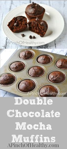 These double chocolate mocha muffins are a tasty treat with a healthy twist. I use healthier ingredients like Greek yogurt, coconut oil and whole wheat pastry flour to make them a little more nutritious.