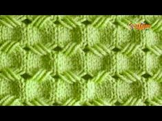 Cómo Tejer Punto Mosaicos - 2 agujas (613) - YouTube Knitting Stitches, Knitting Patterns Free, Knit Patterns, Stitch Patterns, Crochet Art, Free Crochet, Knitting Projects, Crochet Projects, Baby Blanket Crochet