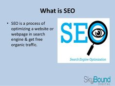 Skybound Digital specializes in #SearchEngineOptimization for your businesses Our organize teams of specialists handle all aspects of Search Engine Optimization.