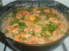 Cinco sentidos na cozinha: Açorda de peixe e camarão