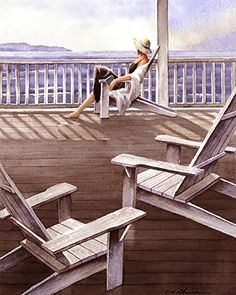Sitting Girl Looking at the Sea print of watercolor painting - Seaside, Gift for Ladies, Relaxing. ▼Train Station print of watercolor painting ▼Archival reproduction of original watercolor painting by T.C. Chiu ▼Choose from 8x10, 12x15, 16x20 Inches ▼Archival print printed with Epson Ultra Chrome pigment inks on Hahnemuhle Fine Art paper. ▼The print looks very much like an original watercolor painting. ▼Prints will come signed and dated by the artist ▼8x10 prints are packed in a clear…