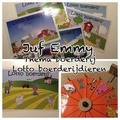 Juf Emmy ❤️ Thema de boerderij  Eigen creatie;  Lotto de boerderij