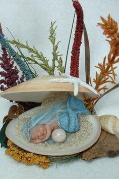 OOAK Etsy mermaid display base - off the scale cute.