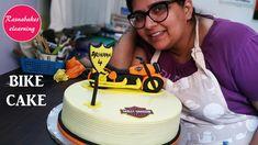 Free Cake Decorating tutorial:Bike cake or motorbike birthday cake Cake Designs For Boy, New Cake Design, Fondant Cake Designs, Cake Decorating Classes, Birthday Cake Decorating, Cake Decorating Tutorials, Cartoon Birthday Cake, 1st Birthday Cakes, 21st Birthday