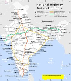 Road Map of India makes you familiar with the Indian road network. India has a network of over kilometres mi) of roads as of 31 March This makes India the second-largest … Geography Map, Teaching Geography, World Geography, Geography Activities, India World Map, India Map, General Knowledge Book, Gernal Knowledge, Indian Road