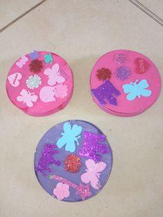 boite de camembert peinte et décorée - fête des mères