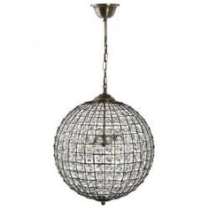 "16"" Ball Cage Electric Pendant (2 Bulb) - 198"