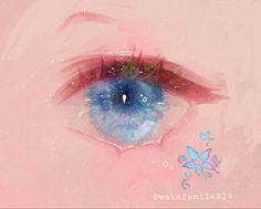 Eye Drawing Tutorials, Digital Painting Tutorials, Digital Art Tutorial, Art Tutorials, Anime Eyes, Kawaii Art, Eye Art, Pretty Art, Aesthetic Art