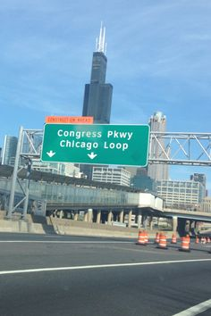 Chi-town loop with the Willis Tower not far away.