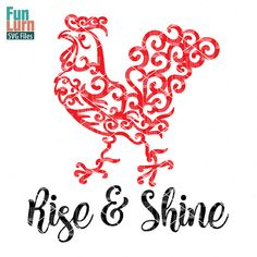 Rise and Shine  Listing is for an INSTANT DOWNLOAD DIGITAL FILE to the design handcrafted by me, shown in the image. It can be used to cut Paper/ Vinyl or any other medium using your digital cutting machine. ( Like Silhouette Cameo, Curio, Cricut Air etc ), or can be used to print if you would like.  Please check if your cutting software will cut one of the file types - SVG, DXF, PNG or EPS  You will receive NO PHYSICAL PRODUCT in mail! NO REFUND IS OFFERED ON ANY PRODUCTS.  LICENSED for...