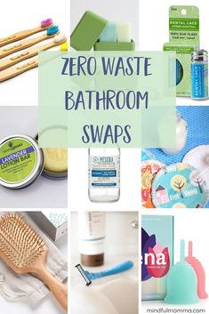 Low waste swaps Zero waste bathroom swaps for all the essentials - including personal care items like toothpaste and deodorant, shower products, skincare and beauty, and even zero waste options for womens monthly period needs. Natural Living, Simple Living, Deodorant Containers, No Waste, Reduce Waste, Reduce Reuse, Reuse Recycle, Recycling, Eco Friendly House