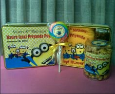 Minion - Goodie bags - goody bags for kids party - birthday goodie bags - birthday gift ideas - party favors
