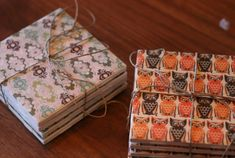 All it takes is some pretty patterned paper and Mod Podge to DIY cheap tiles into coasters. You can make them with holiday patterns or something more personalized to the coworker. Get the tutorial at Boxy Colonial.   - Redbook.com
