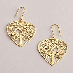 Gold Tree of Life Earrings | World Market