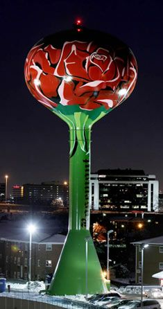 Rose water tower, Rosemont, Illinois
