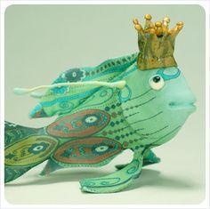Art doll fish curiosity $85