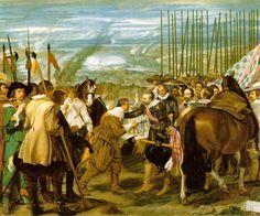 "The Surrender of Breda  Before 1635 (180 Kb); Oil on canvas, 307 x 367 cm (10' 7/8"" x 12' 1/2""); Museo del Prado, Madrid"
