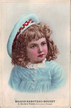 CHROMO MAISON RABOTEAU-BOUVET - GIRL IN LIGHT BLUE - VERGER by patrick.marks, via Flickr