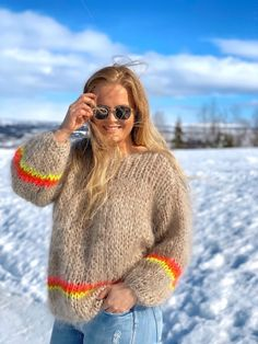 Les Tricots D'o Multi Col. Sand/stripes Fluo   Josefine Festivals In August, Fun Places To Go, Jackson Hole, Country Life, Dame, Erotic, Silhouette, Pullover, Knitting