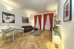 Two-bedroom apartment in Salvator Apartments Prague Apartment, Big Bathrooms, Two Bedroom Apartments, Work Desk, Apartment Interior Design, Dining Area, Relax, Living Room, Modern