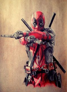 #Deadpool #Fan #Art. (Deadpool, Ryan Reynolds) By: Jouck. ÅWESOMENESS!!!™
