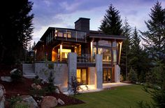 Progressive Design Concept and Kelly Deck Design collaborated on the creation of The Compass Pointe House, a stunning modern abode in Whistler, Canada