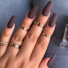 40 Most Stunning And Trendy Short Matte Coffin Nails Design For Ladies - Matte Coffin Nails Idea 13 Coffin Nails Design For Ladies. Acrylic Nails Coffin Short, Coffin Nails Matte, Fall Acrylic Nails, Matte Nail Polish, Acrylic Nails Almond Matte, Oval Nails, Gel Polish, Light Colored Nails, Light Nails