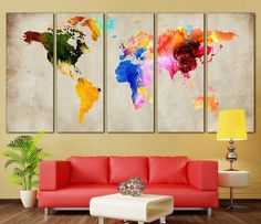 Colorful World Map №870